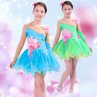 Wholesale Chinese Shops - Hot sell Children 's lotus skirt performance  children' s princess skirt  Chinese traditional clothing children 's skirts free shopping