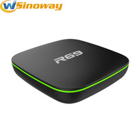 R69 Cheapest Android TV Box Allwinner H2 Quad Core DDRIII 1GB Flash 8GB 1.5GHZ Soporte Air Mouse Smart 4k TV Boxes Entrega rápida