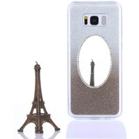 Wholesale Galaxy S4 Mini Silicon Covers - Glitter Bling TPU Make Up Mirror Case For Samsung Galaxy S3 S4 Mini S5 Mini S6 S7 Edge S8 S8 Plus Silicon Cover