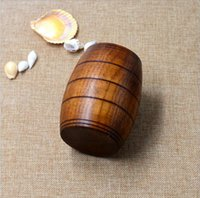Wholesale Wooden Barrel Shaped Beer Mug