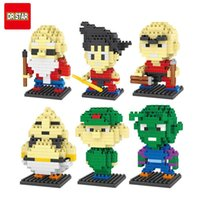 Wholesale Master Roshi Figure - 10 Style Dragon Ball Z Toy Building Block Action Figures Son Goku Piccolo Vegeta Frieza Anime Toy Oolong Master Roshi Karrin