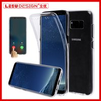 Wholesale Soft Tpu Silicone Back Case - For Samsung S8 PLUS S7edge 360 Full Body Soft TPU Case Ultra-Thin Clear Gel Silicon Front Back Cover for iphone 7 plus A3 A7 A5 2017 S6 edge