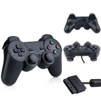Wholesale Wireless Controller Ps2 Free Shipping - High Quality For PS2 Controller Wired Dual Vibration Joystick For PS2 Playstation 2 Controller DHL free shipping