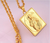 Wholesale God Piece - 2018 men gift Hip Hop Jesus Stainless Steel Necklaces Men Big Vintage Cross HipHop Chain Pendant Necklace Gold Jesus Piece Jewelry GOD jesus