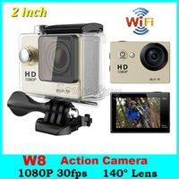 Action Kamera 2 Zoll Bildschirm EKEN W8 wasserdicht Tauchen 30M HD 1080P Wifi 140 Grad Objektiv Sport Kamerahelm Mini DV DVR Video