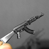 Wholesale Souvenir Items Wholesale - Novelty Items Counter Strike AK47 Guns Keychain Trinket Awp Rifle Sniper Key Chain Key Ring Jewelry Souvenirs Gift Men Llaveros