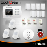 Upgrade Wireless Home Alarm Systems Segurança de roubo residencial com Auto Dial Low Consume Power By DHL Free