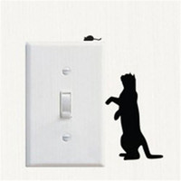 Wholesale Mouse Wall Stickers - Sticker Animal Vinyl Decor Cat And Mouse Switch Stickers Room Windows Socket Decoration Wallpaper Environmental Protection Adornment
