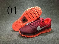 Wholesale Men Max Running - Fashion Outdoor Mens Max 2017 Cushion Running Shoes Men Sport Sneakers Cushion Black Red Blue Mesh Athletic Trainers Size: 7-11