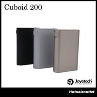 Wholesale Custom Metal Logo Wholesale - Authentic Joyetech Cuboid 200 TC Box Mod New interface with Upgradeable Firmware Custom Logo and Preheat Function 100% Original