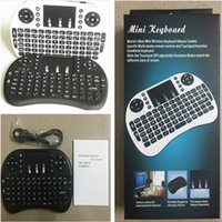 Wholesale Notebook Keyboards - Mini Rii i8 Wireless Keyboard 2.4G English Air Mouse Keyboard Remote Control Touchpad for Smart Android TV Box Notebook Tablet Pc