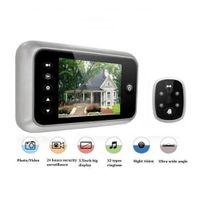 "Wholesale digital video door viewer peephole - 3.5"" Digital Peephole Door Viewer Video Bell Camera Body Detection Monitor HS908"