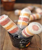 всплывающий торт-контейнер оптовых-Валентина пластиковые пищевые продукты Push Up Pop контейнеры Push Cake Pop торт контейнер для украшения партии круглой формы