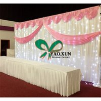 Wholesale Cheap Led String Lights - Cheap Price Wedding Backdrop Curain \ Stage Background And The Led String Light