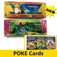 Wholesale Flash Trades - Poke go Assorted Cards English Rare Trading Cards Games toys XY XX break point Monsters Flash Fire Random Booster Cards 24pack box
