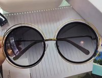 Wholesale Transparent Glasses Rimless - brand designer sunglasses CARLINA CE114S GOLD-TRANSPARENT Grey Shaded Sunglasses Brand New with Case