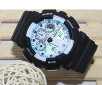 Wholesale Quartz Chronograph White Ceramic Watch - 1pcs top relogio G100 men's sports watches, LED chronograph wristwatch, military watch, digital watch, good gift for men & boy, dropship