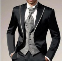Vender como bolos quentes! Popular Best Man Groomsmen Suit Wedding Man Groom Tuxedo Men Business Party Suit