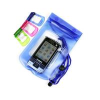 freies verschiffen blackberry beutel großhandel-Freies Verschiffen-wasserdichte Kamerabeutel-trockene Fall-Beutel-Ski-Strand für Kamera-Handy-wasserdichte Tasche