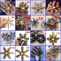 Wholesale Six Arm King Kong Bullet Fidget Spinner Water Droplets Puzzle Decompression Toys High End Metal Spiral Hexagonal Water Droplets