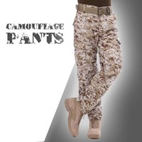 Wholesale Tactical Training Uniforms - Wholesale- Hunting Army Uniform Pants Combat Pants Tactical Outdoor Army Sport Training Dust Trouses Camouflage