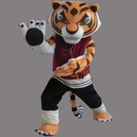 Wholesale Cartoon Tiger Dress - Cartoon Character Kungfu Tiger Mascot Costume Fancy Birthday Party Dress Halloween Carnivals Costumes With High Quality Free Shipping