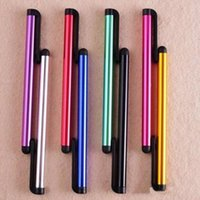 Wholesale tablet colors brand online - Universal Capacitive Stylus Pen for Iphone plus S S Touch Pen for Cell Phone For Tablet Different Colors