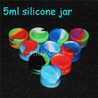 Wholesale ml silicone jar wax oil containers silicone containers for wax ml