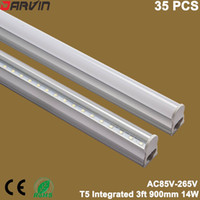 Wholesale Energy Saving Fluorescent T5 - 3ft T5 Integrated Led Tube 90cm 900mm 14W Led Light Super Bright Replaced Old Fluorescent Light Energy Saving Led Light