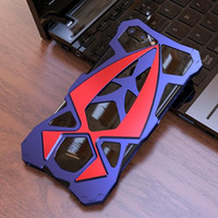 Wholesale New Colors LUPHIE Shockproof Armor Sports Car Metal Aluminum Cases Cover For iphone Plus s sPlus Shell Case without Logo