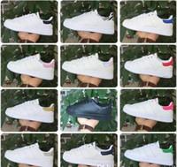 zapatillas para correr a precios más bajos al por mayor-BAJO PRECIO 2017 de alta calidad de las mujeres de los hombres nuevos stan zapatos de moda smith sneakers zapatillas de deporte de cuero casuales zapatos