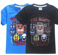 Wholesale Teen Boys Clothing - Boys Children Boy Clothes Freddy T-shirt Kids Girls Shirts Five Night At Freddy Girls Tees For Teens