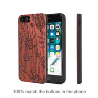 Wholesale Wholesale Iphone Caes - U&I Wood Cover Luxury Mobile Phone Caes for IPhone Phone Caes Plastic PC Protective Back Cover