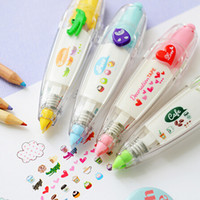 Wholesale Cute Tapes - Wholesale- 2016 Cute Correction Tape Cartoon Animal Decoration Tapes Letter Diary DIY Scrapbooking Tools Stationery Office School Supplies