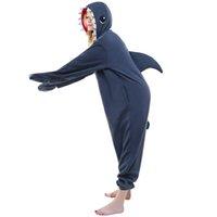Wholesale Shark Onesie Pajamas - HappyBuy Shark Costume Adult Kigurumi Pajamas Animal Onesie Pajamas Women Cozy Fleece One Piece Pajamas Sleepwear