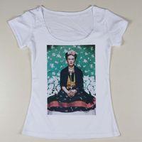 Wholesale Slim Fit Designer Shirts Sale - Wholesale-Hot Sale Women Frida Kahlo Pattern Printing T Shirts Slim Fit Female Short Sleeve Tee Shirt Ladies Sexy t-shirt Designer