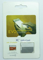 Wholesale Micr Sd Card - 2 pcs Class 10 EVO 128GB 64GB Micr SD Card MicroSD TF Memory Card C10 Flash SDHC SD Adapter SDXC White Orange Retail Package
