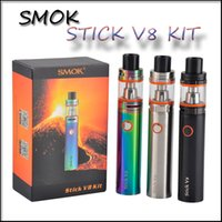 Высокое качество Smok Stick V8 Kit 3000mAh Stick mod Battery 5ml top Заполнение TFV8 Big Baby Tank VAPE Pen Cloud Beast e cigs