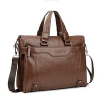 Wholesale Man S Leather Briefcase - Wholesale- New Promotion Simple Dot Famous Brand Business Men Briefcase Bag Luxury Leather Laptop Bag Men 's leisure package bolsa maleta