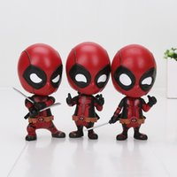 Wholesale Spiderman Models Kids - New Deadpool Spiderman Black Panther Cosbaby Action Figure Super Heroes PVC 10CM Collection Model Toys Dolls Kids Toys