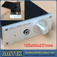 Wholesale Headphone Amplifier Case - Freeshipping DIY Aluminum Enclosure   Amplifier case   Amp chassis For E3  E4 Headphone amplifier ( 155x60x231mm