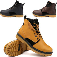 Wholesale Rainboots Male - Martin boots male leather boots high boots men short boots Plus velvet warmth fashion boots Wholesale and retail