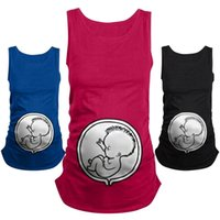 """Wholesale Maternity T Shirt Baby - """"Baby peeking out"""" Maternity T-shirts For Pregnant Women Cute Cartoon Top Funny Pregnancy T Shirts Maternity Clothes"""