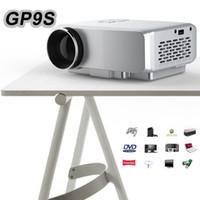 Wholesale Hdmi Lead Usb Port - Wholesale-Mini Portable Projector GP9S Home Theater LED TV Video Game Beamer 800 Lumen SD HDMI   VGA   AV   USB Port 1080P LCD Projectors