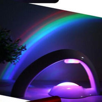 Wholesale luminous rainbow resale online - Rainbow Night Light Romantic Originality High Quality LED Floodlight Creative Luminous Bedside Lamps Aurora Master Hot Sell sl D R