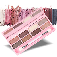 ingrosso lucido set di ombretti-Fashion 8 Colors Eyeshadow Palette Donna Diamond Bright Shining Colorful Makeup Eye Shadow Flash Glitter Make Up Set con pennello