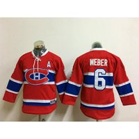 Wholesale Cheap Uniform Shirts For Men - Montreal Canadiens #6 Weber Hockey Jerseys Men Stitched Hockey Uniform Cheap Hockey Jersey Discounted Red Hockey Shirts for Sale