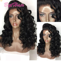 Bythair Cheap Hair Natural Full Lace Wig Brazilian Indian Deep Curl Remy Virgem Cabelo Humano Lace Front Perucas para Mulheres Negras