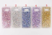 Pour Samsung Galaxy S7 S7 bord S8 S8 Plus Bling Glitter Sparkle Soft TPU Case Diamond Phone Cover