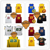 Wholesale Embroidery Sleeveless - 2017 Adult male LeBron James Basketball Jersey Rev 30 Youth Kid James #23 Jersey stitched Embroidery The final Patch